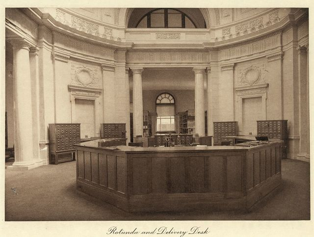 Rotunda and delivery desk