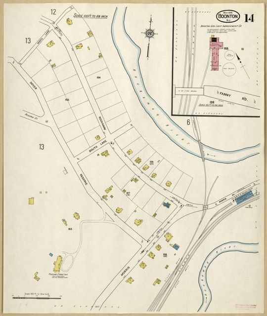 Sanborn Fire Insurance Map from Boonton, Morris County, New Jersey.