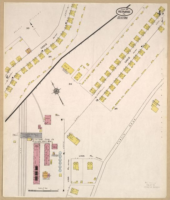 Sanborn Fire Insurance Map from Hermine, Westmoreland County