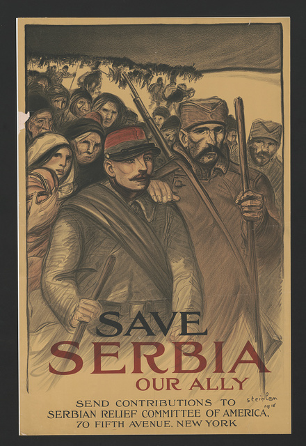 Save Serbia our ally. Send contributions to Serbian Relief Committee of America