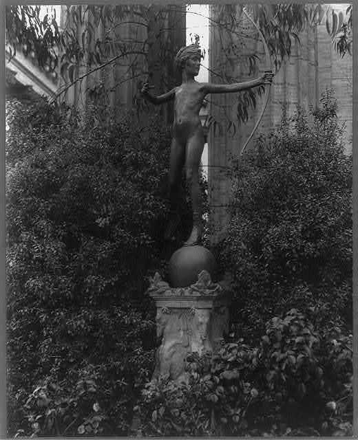 [Sculpture of young Diana shooting an arrow]