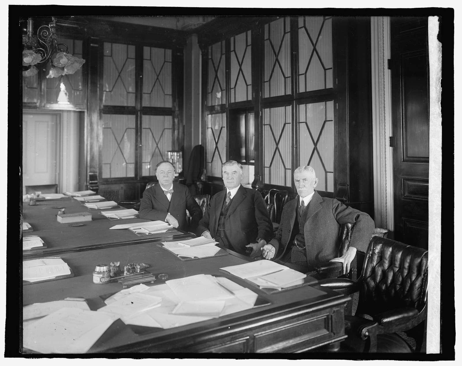 Senators Geo. E. Chamberlain, Chas. S. Thomas of Colo., Jas. H. Brady of Idaho