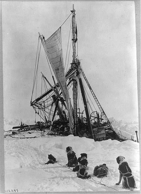 Shackleton's expedition to the Antarctic Endurance after ice pressure was released.