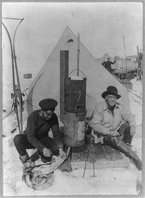 Shackleton's expedition to the Antarctic ocean camp.