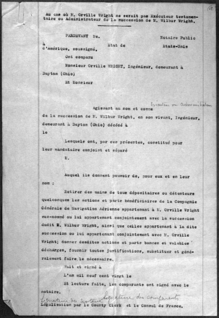 Subject File:  Foreign Business--Countries--France--Compagnie General de Navigation Aerienne, 1916-1920