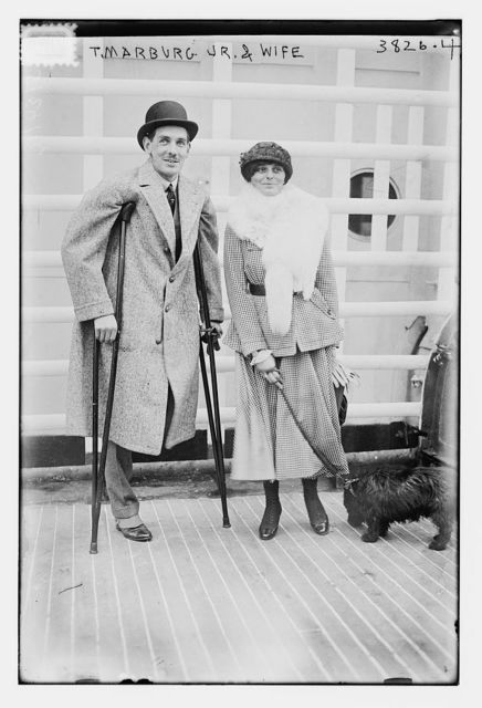 T. Marburg Jr. & wife