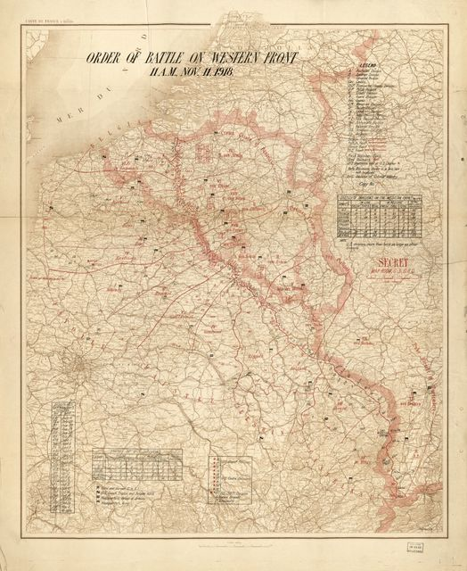 [Tasker Howard Bliss collection of World War I maps and other related graphic materials].