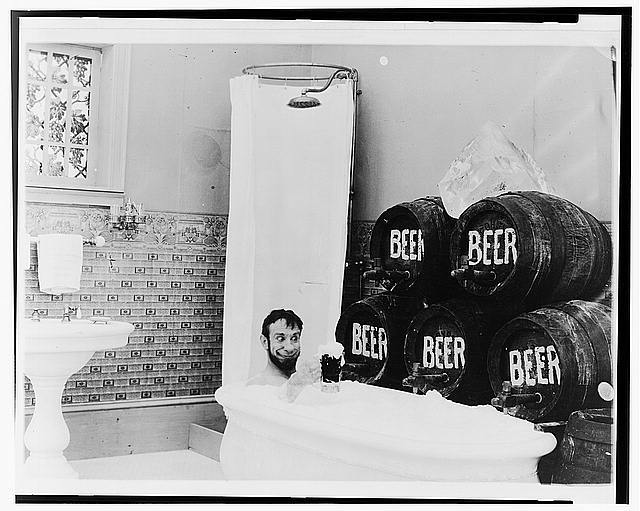 The Mishaps of Musty Suffer, bathtub of beer