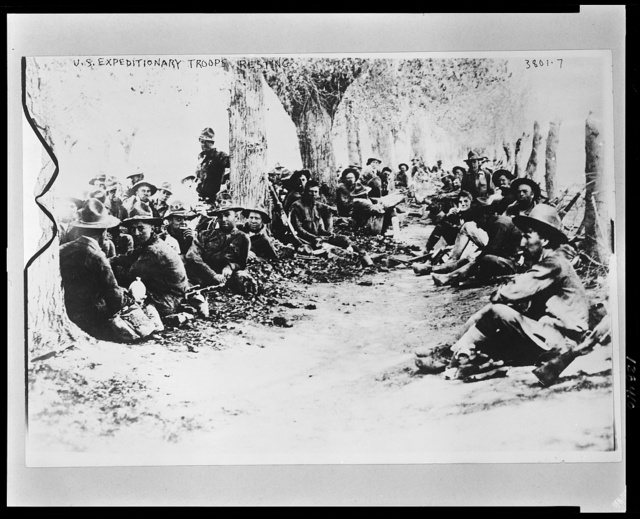 U.S. Army Expeditionary troops resting in Mexico, April 1, 1916