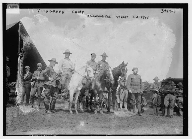 Vitagraph camp, Commodere [i.e. Commodore] Stuart Blackton