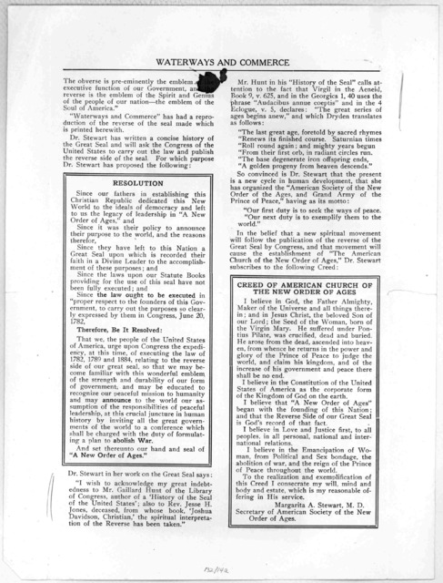 Waterways and commerce. Devoted to the restoration of the American merchant marine and the establishment of world peace .... Vol. 7. October, November, December 1916. No. 4. [New York 1916.