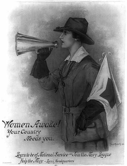 Women awake! Your country needs you--Learn to be of national service - join the Navy League--Help the Navy - local headquarters / Hazel Roberts.