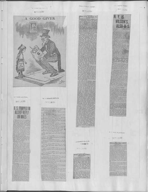 World War history : daily records and comments as appeared in American and foreign newspapers, 1914-1926 (New York), October 16, 1916, (1916 October 16-22)