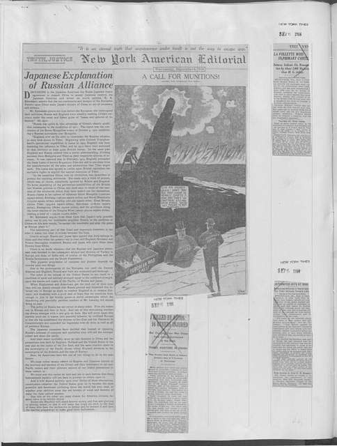 World War history : daily records and comments as appeared in American and foreign newspapers, 1914-1926 (New York), September 2, 1916, (1916 September 2-8)
