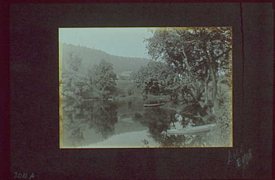 1917-1918, reference prints from negatives. River or lake with boats I, horizontal