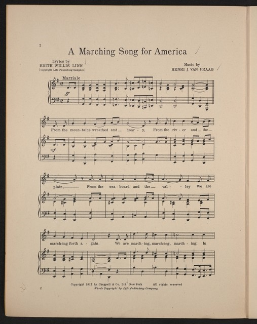 A  marching song for America