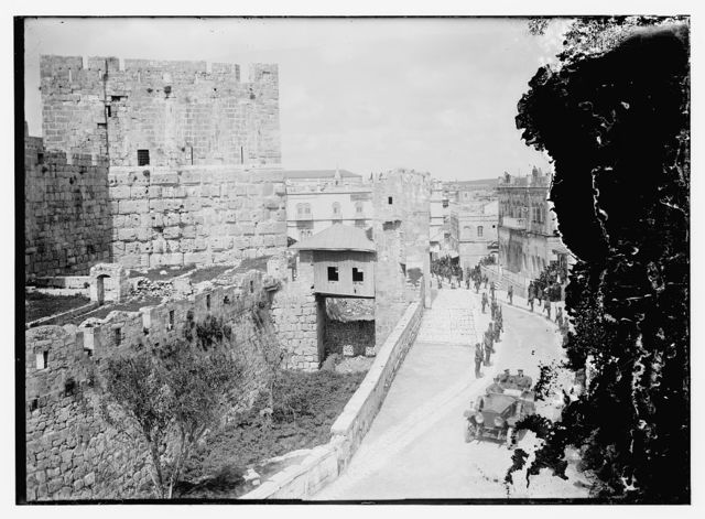 Allenby arriving to read proclamation at Tower of David