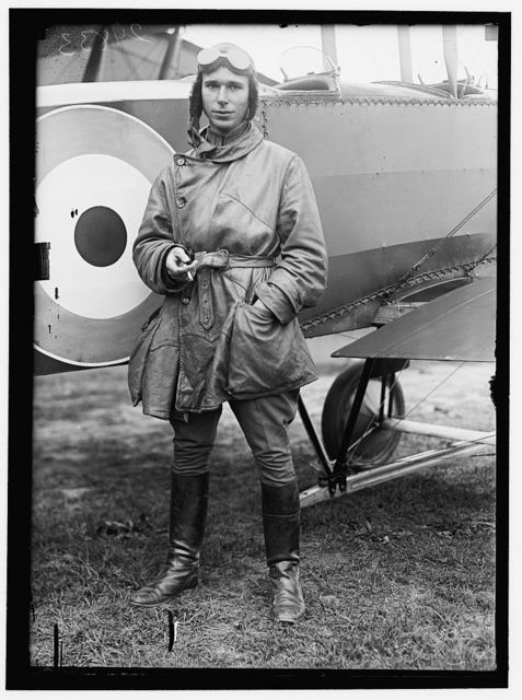 ALLIED AIRCRAFT DEMONSTRATION AT POLO GROUNDS. LT. STEPHEN BONSALL, BRITISH