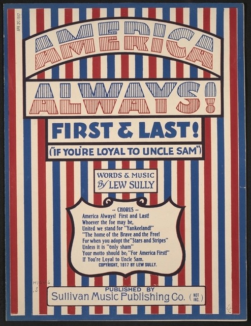 America always! First and last! if you're loyal to Uncle Sam
