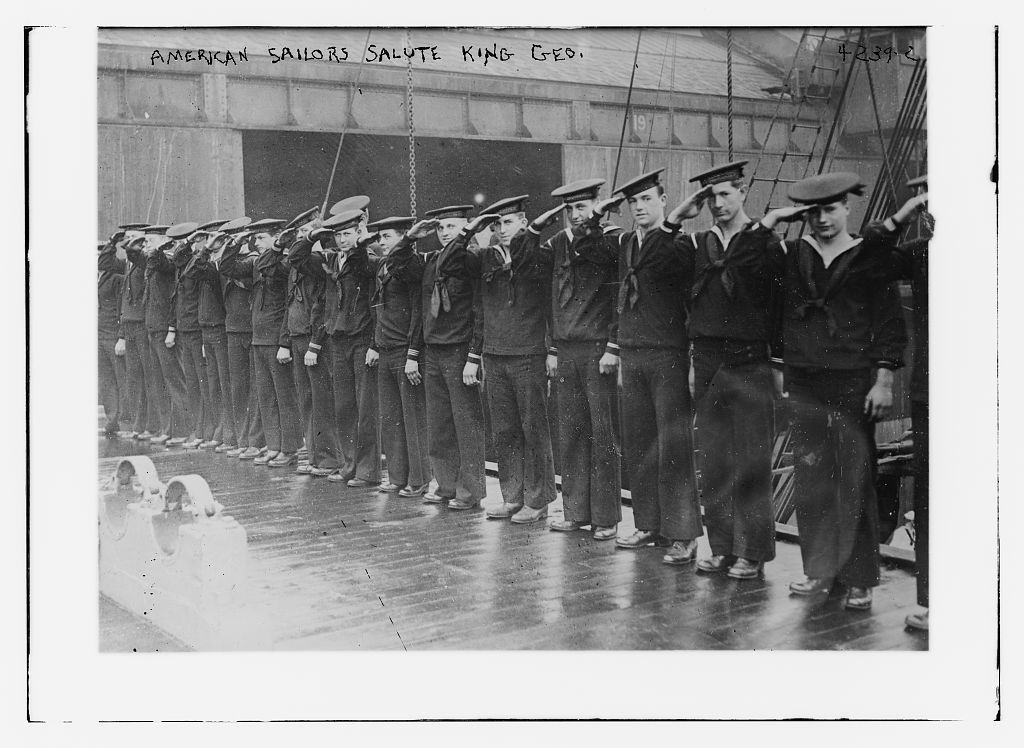 American sailors salute King Geo. [i.e. George]
