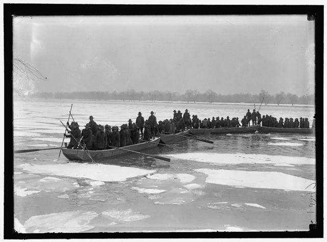 AMERICAN UNIVERSITY TRAINING CAMP. ENGINEERS FROM TRAINING CAMP ON POTOMAC