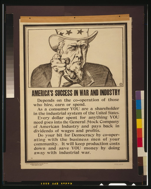 America's success in war and industry depends on the co-operation of those who hire, earn or spend / PR.