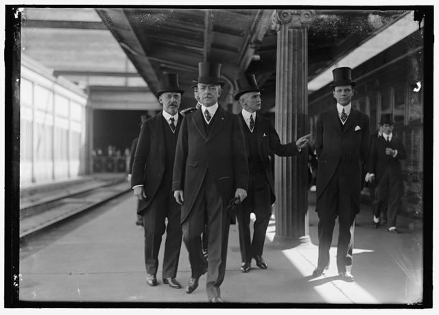 BALFOUR, ARTHUR JAMES. M.P., O.M., HEAD OF BRITISH COMMISSION TO U.S. AWAITING HIS ARRIVAL: AMB. SPRING-RICE; LANSING; F.L. POLK; WILLIAM PHILLIPS