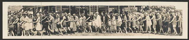 Bath Suit Fashion Parade, Seal Beach, Cal., July 14, 1918