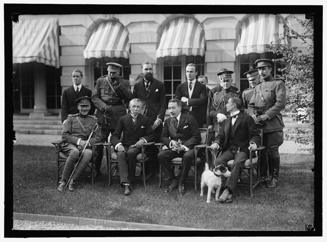 BELGIAN MISSION TO U.S. AT HOME OF LARS ANDERSON. SEATED: MAJ. GEN. MATHIEW LeCLERCE; BARON MONCHEUR; EDE CARTIER DeMARCHIENNE, MISSION TO U.S.; HUGH GIBSON OF STATE DEPARTMENT. STANDING: M. DeMERTENS, ONE OF SECRETARIES OF MISSION; MAJ. OSTERRIETH; HECTOR CARLIER; A SECRETARY OF THE [...]