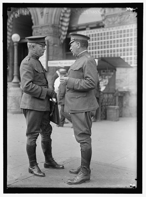 BLACK, WILLIAM MURRAY. BRIGADIER GENERAL, U.S.A. RIGHT, WITH LT. COL. PIERCE