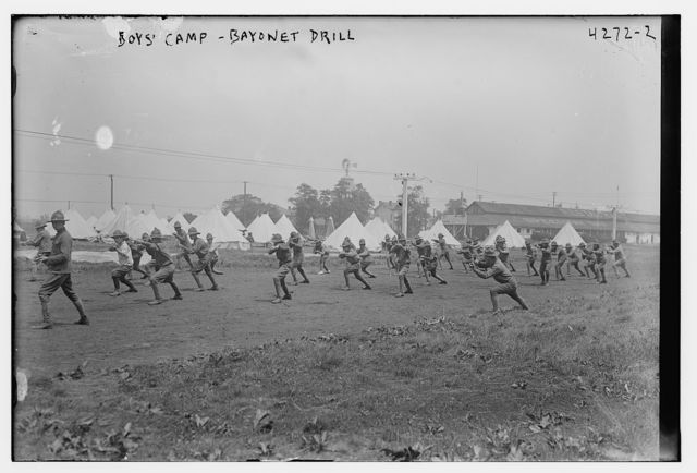 Boy's Camp, Bayonet drill