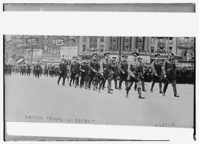 British troops in Detroit