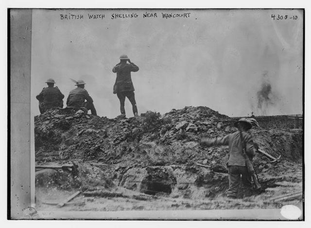 British watch shelling near Wancourt