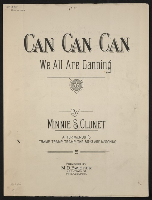 Can can can we are all canning