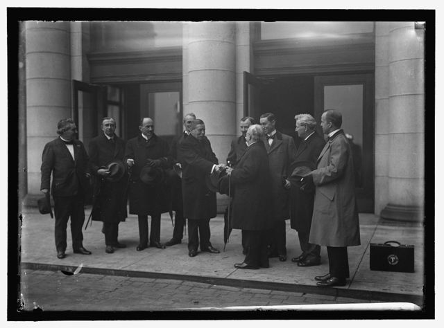 CANADA. LABOR DELEGATIONS. BRITISH LABOR COM. GARROD, H.W.; ROBERTSON, G.D. CANADIAN LABOR DEL.; GIBSON, HUGH, OF STATE DEPT.; BOWERMAN, CHARLES W., M.P.; GOMPERS, SAMUEL, PRESIDENT, A.F. OF L.