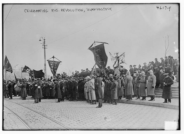 Celebrating Rus. [i.e. Russian] Revolution, Vladivostock