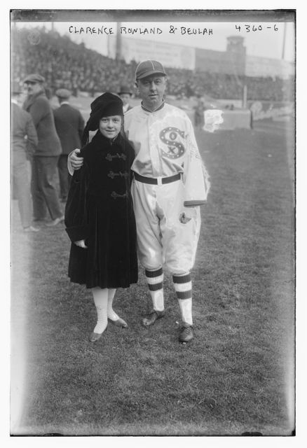 """[Clarence """"Pants"""" Rowland, manager, and Beulah, Chicago AL (baseball)]"""