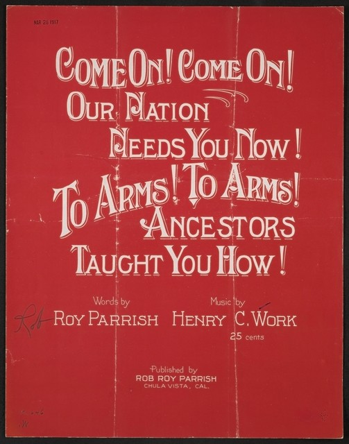 Come on! Come on! Our nation needs you now! To arms! To arms! Ancestors taught you how!