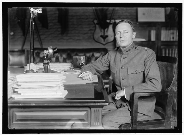 CROWELL, BENEDICT. MAJOR, U.S.A. ASSISTANT SECRETARY OF WAR, 1917. AT DESK