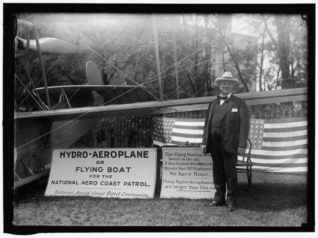 CURTISS AIRPLANE. CURTISS HYDROAEROPLANE, OR FLYING BOAT EXHIBITED AT HOUSE OFFICE BUILDING