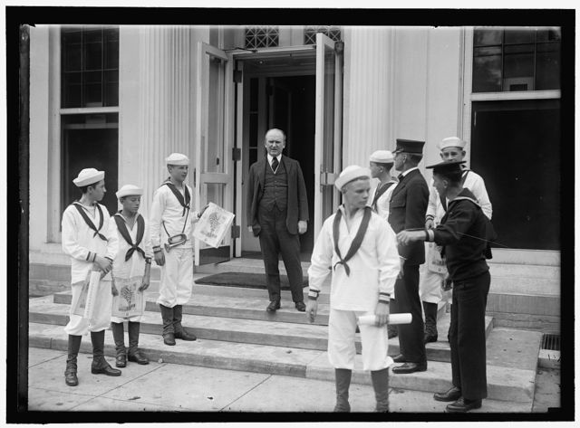 DANIELS, JOSEPHUS. SECRETARY OF THE NAVY, 1913-1921. NAVAL SCOUTS