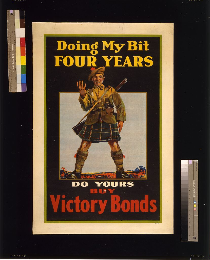 Doing my bit, four years; do yours, buy Victory Bonds
