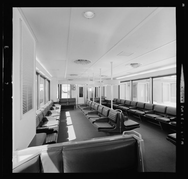 Dulles International Airport, Chantilly, Virginia, 1958-63 (Expanded by Skidmore, Owings & Merrill, 1998-2000). Mobile lounge interior