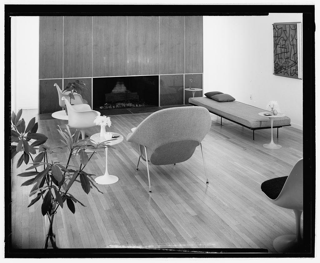 Eero Saarinen house (Bloomfield Hills, Michigan). Interior