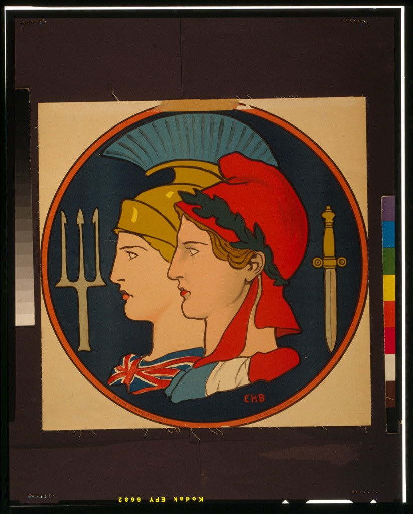 [Emblem of France and Great Britain] / EHB ; M. Rusling Wood, Litho., N.Y.