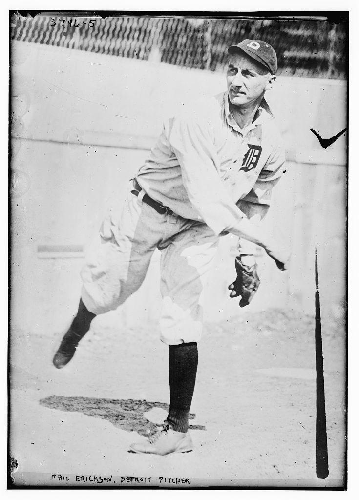 [Eric Erickson, pitcher, Detroit AL (baseball)]