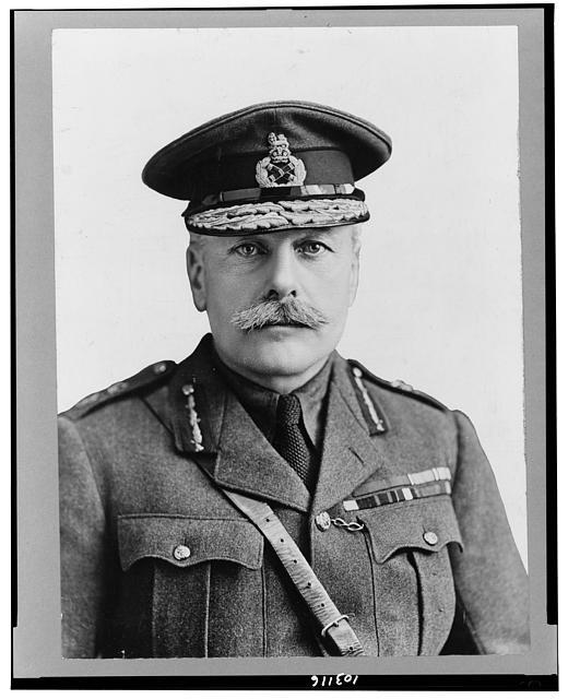 [Field Marshall Sir Douglas Haig, head-and-shoulders portrait, facing front, in uniform]