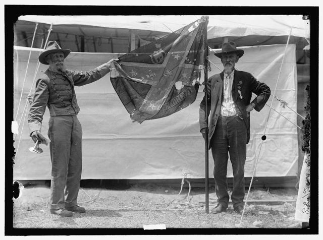FLAGS. CONFEDERATE REUNION; BATTLE FLAGS OF WAR BETWEEN THE STATES