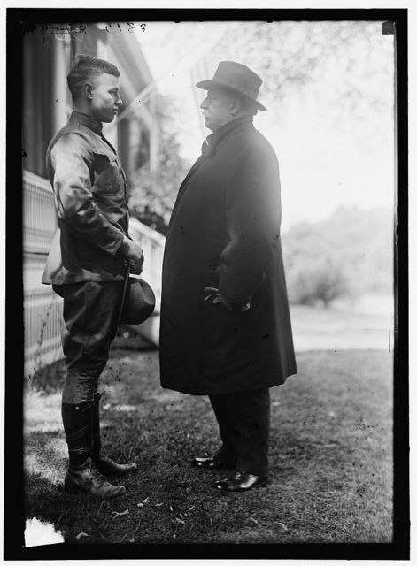 FORT MYER OFFICERS TRAINING CAMP. CHARLES P. TAFT AT CAMP WITH FATHER, EX-PRESIDENT TAFT