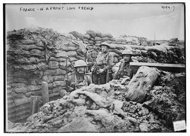 France - in a front line trench